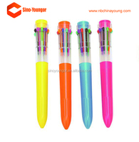 10 in 1 Office promotional plastic muti color ballpoint pen