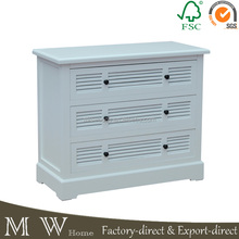 wholesaler bedroom furniture set white painted drawer chest furniture wooden bedroom