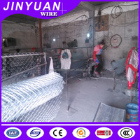 2.0mm wire diameter 60mm*60mm opening size galvanized treatment diamond hole chain link fence cage application