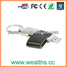 Popular Leather Usb Flash Memory/USB Flash Drive2.0 for Promotional Gift