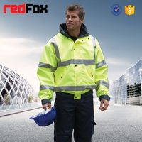 wholesale waterproof high visibility safety waterproof windproof fluorescent jacket