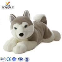 Plush Husky Stuffed Dog Puppy Dolls Animal Toys custom stuffed toy siberian husky puppy for sale
