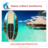2016 Hot sale fiberglass bamboo stand up paddle board made in China