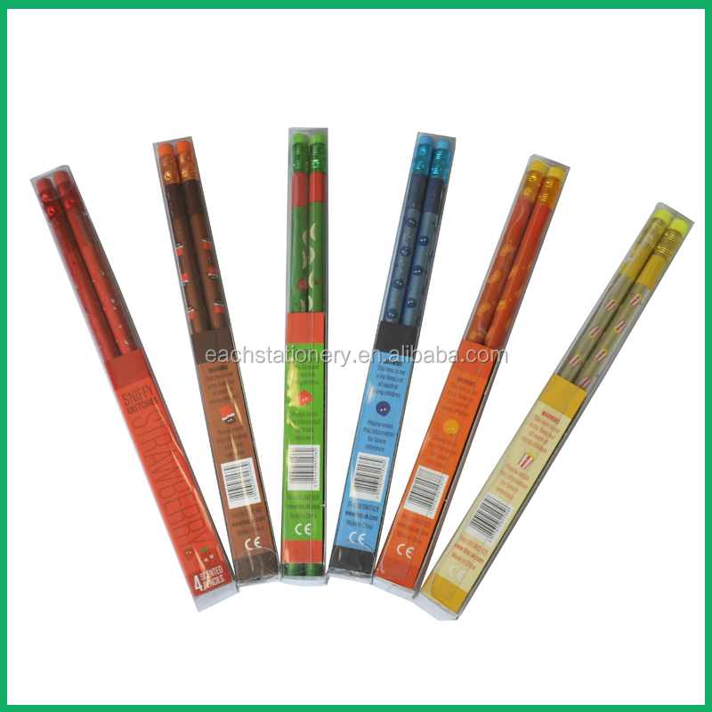 Customized Shrink Film Pencil Scented Smell Various Scent HB Pencil