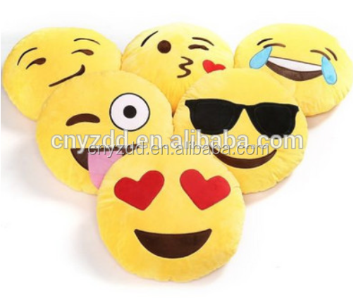 Free sample plush emoji pillows factory wholesale stuffed soft toys