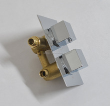 Brass Square In-wall Thermostatic Concealed Mixing Valve cock