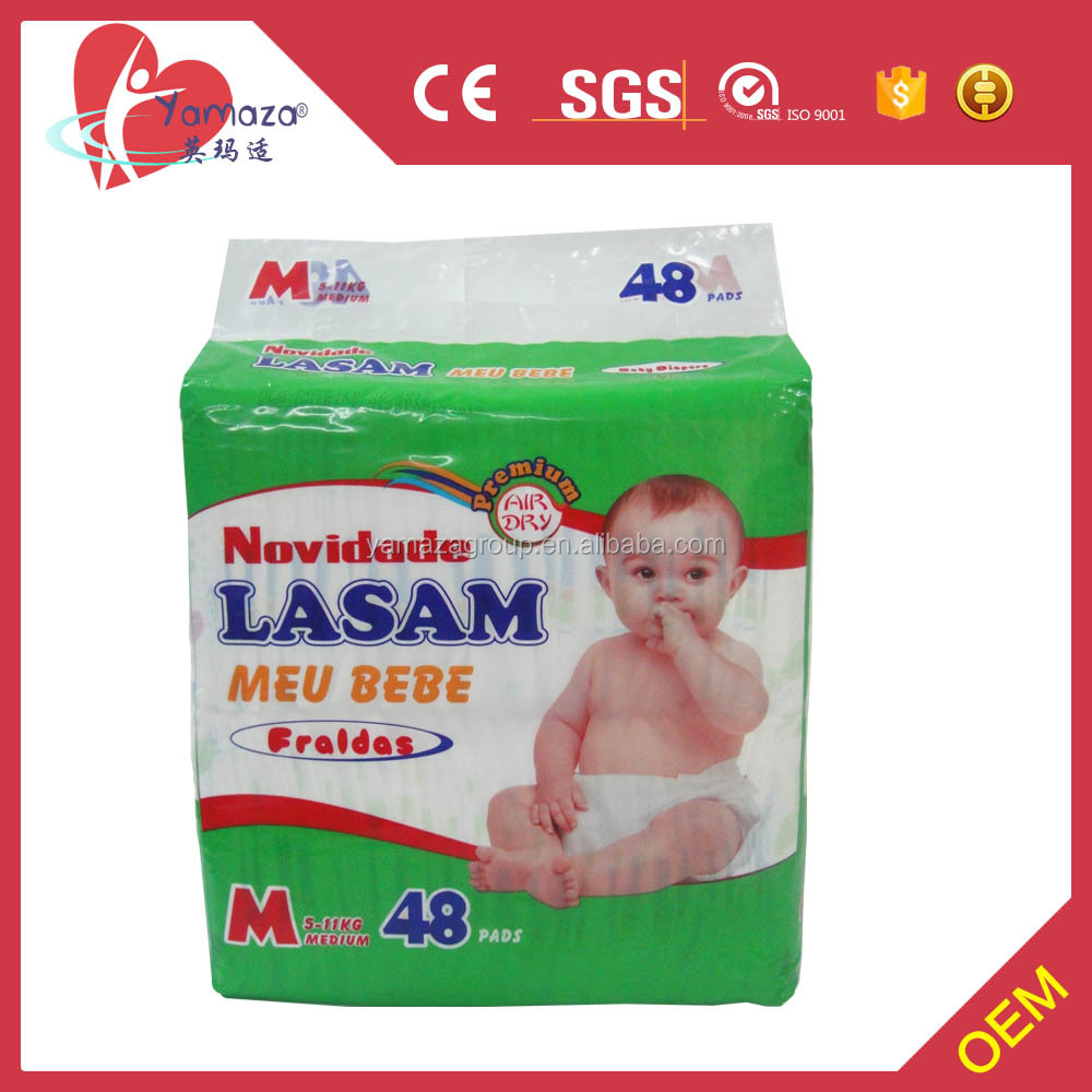Pure Cotton Diaper Material Mum love baby diaper import from China