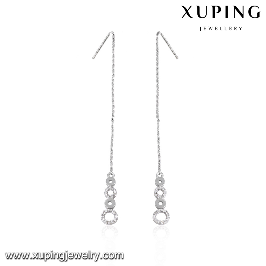 92718-wholesale high quality fashion jewelry diamond long earrings