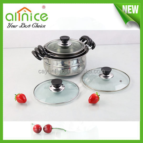 yiwu hot selling 16/18/20cm stainless steel stockpot/chinese soup tureen