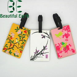 Travel Convenient soft pvc luggage tag wholesale, pvc hang tag for promotion gift