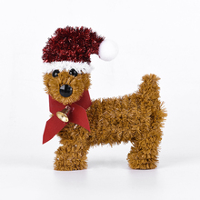 Huandi Christmas Ornament Cute Small Dog Christmas Decoration Gift
