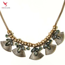 Metal Beads Sector Statement Necklace Women Latest Design Jewelry