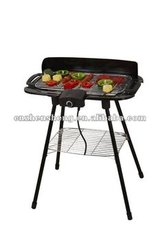Electrical folding legs barbecue grill