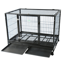 Retail customized size anti rust iron dog kennel