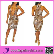 2014 Hot Selling Bodycon Dress In Animal Print