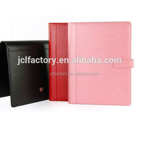 A5 luxury business file folder multi-function conference portfoli... folder file with calculator