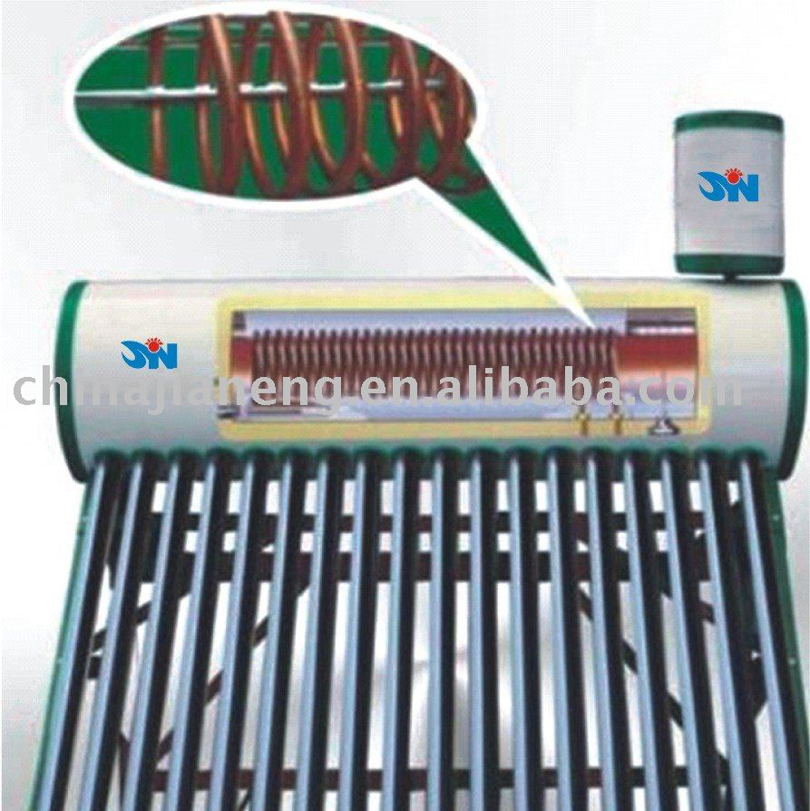 preheated solar thermal water, heat exchanger solar water heater
