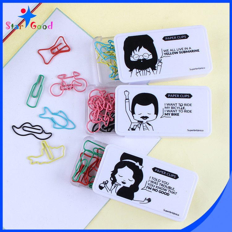 Hot sales different small plastic paper clip PET coated iron wire