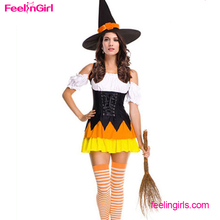 Free Shipping OEM Services Halloween Sexy Cosplay Witch Dance Costume