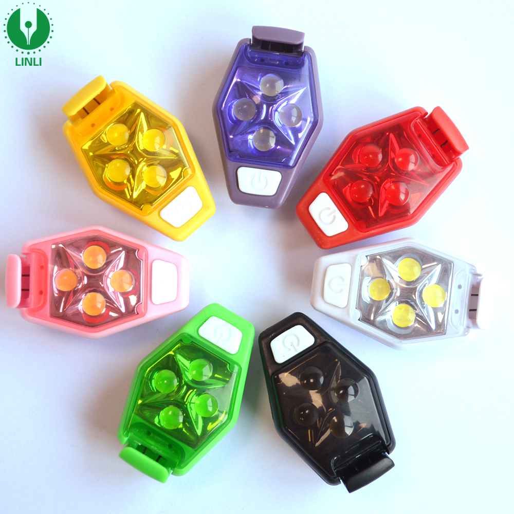 European Material Standard Mini Warning LED Safety Light, Clip Lights With LED, Ultra Safety Light