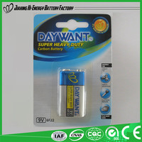 Low Price China Manufacturer Alibaba Suppliers Dry Cell 6F22 9V Remote Control Battery
