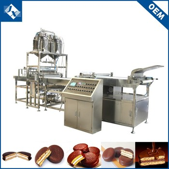 China manufacture chocolate coating pie bakery equipment