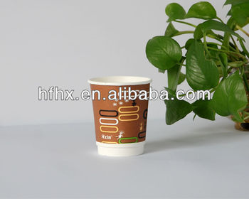 disposable Custom logo double wall paper coffee cups