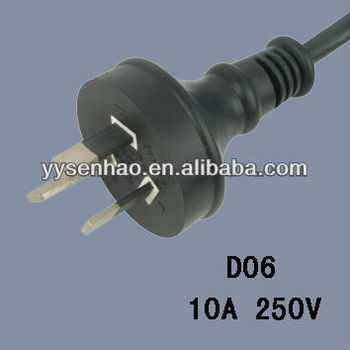 SAA approval australia 3 pin power lead plug