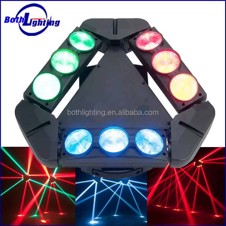 2016 Hotslae smart stage lighting 9*10W RGBW 4IN1 LEDs 9 eyes beam spider moving head dj laser light