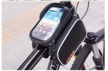 Queena Cycling Top Frame Double Pouch Holder Front Pannier Saddle Tube Bike Phone Bag
