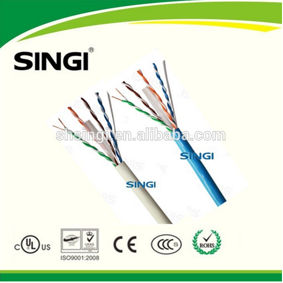 cat5e cable price per meter RJ45 Plug Cat5e Network Cable UTP/ FTP/ SFTP Lan Cable At Factory Price