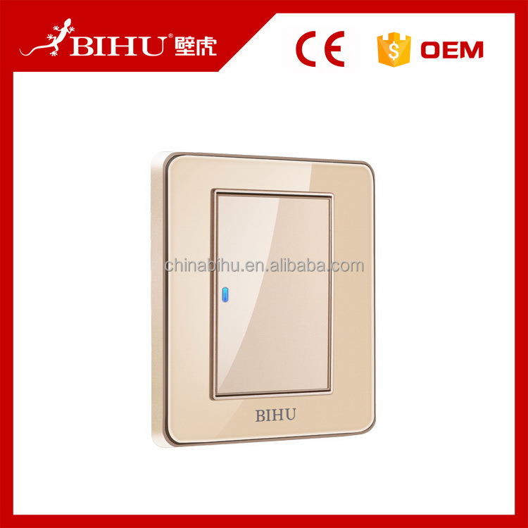 China gold manufacturer nice grade 1 gang wall switch and socket