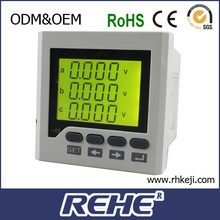RH-3D6Y high quality three phase LCD display current voltage Hz kwh power smart multimeter