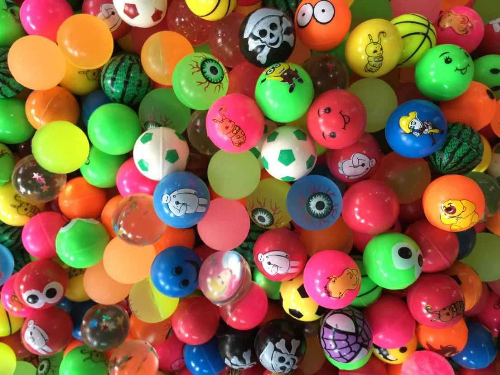 25mm,32mm,45mm Assorted Colors Patterns High Bouncing Balls Super Bounce Ball