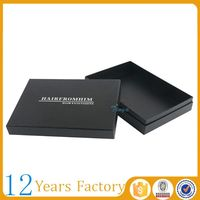 Two pieces custom packaging hair extension box