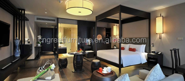 Hotel bedroom furniture/Commercial modern hotel solid wood cheap used bedroom furniture