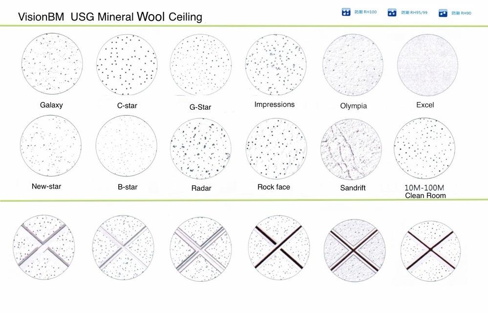 Usg Rock Face Mineral Fiber Ceiling Tile Square Lay In Rh99 Buy
