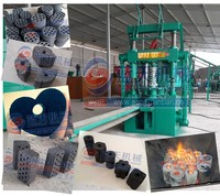 Professional factory honeycomb coal briquette press machine charcoal dust brick making machine