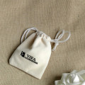Wholesale/ Custom white velvet jewelry bag drawstring