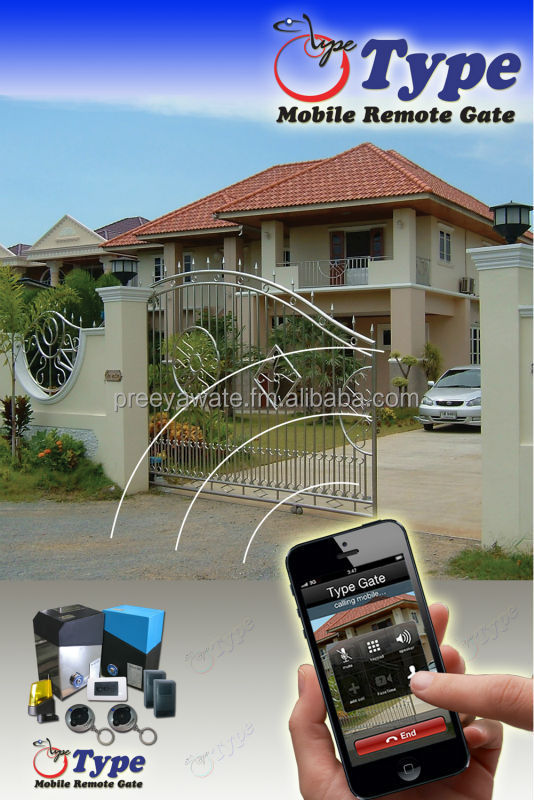 MOBILE PHONE Automatic Gate for Sliding Stainless Motor