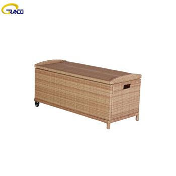 Wicker storage chest outdoor cushion boxes outdoorwicker storage boxes rattan garden furniture cushion box