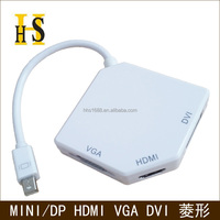 new mini dp displayport to hdmi dvi vga 3 in 1 for macbook up to 1080p high quality mini displayport male to hdmi dvi vga female