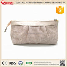 High quality creative 100% recycled canvas cosmetic bag