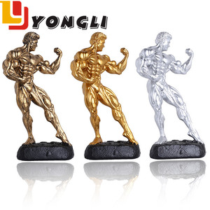 2018 Wholesale Modern Design Handmade Resin Bodybuilding Trophy