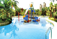2014 CE plastic slide with swing set outdoor playground water park for kids