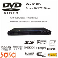 Factory cheap price metal shell DVD-138A 430mm wide home use dvd player with usb port sd
