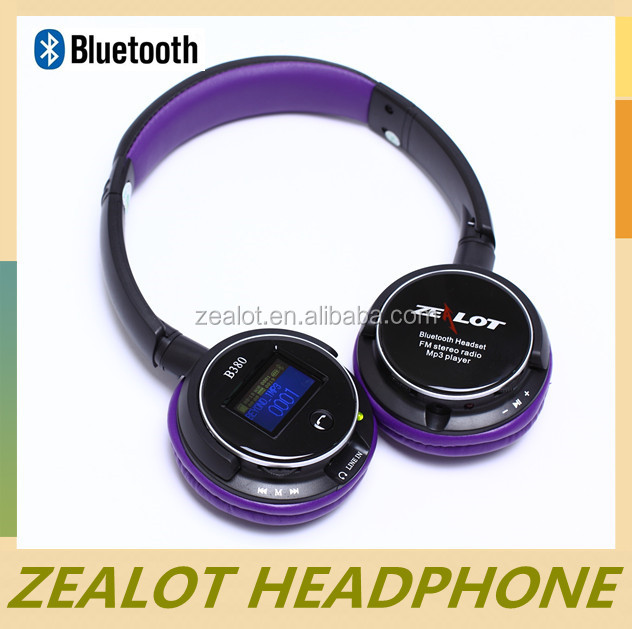 Zealot 2017 Hot Sale Private Custom Fashionable Style Sport Bluetooth Headset b380