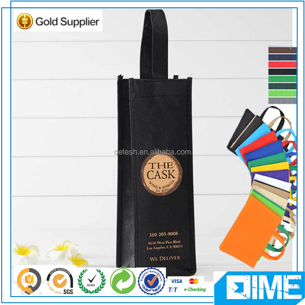 Professional Packing Recycled Non-Woven Fabric Wine Bag