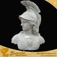 Carving White Marble Famous Solider bust sculpture in Europe for sale