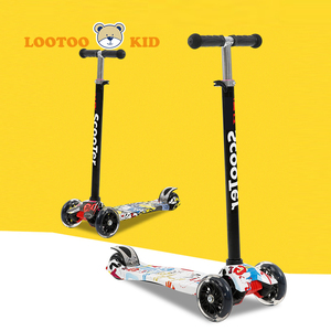 Nylon deck 4 wheel children scooters for 13 year olds / top kids scooters